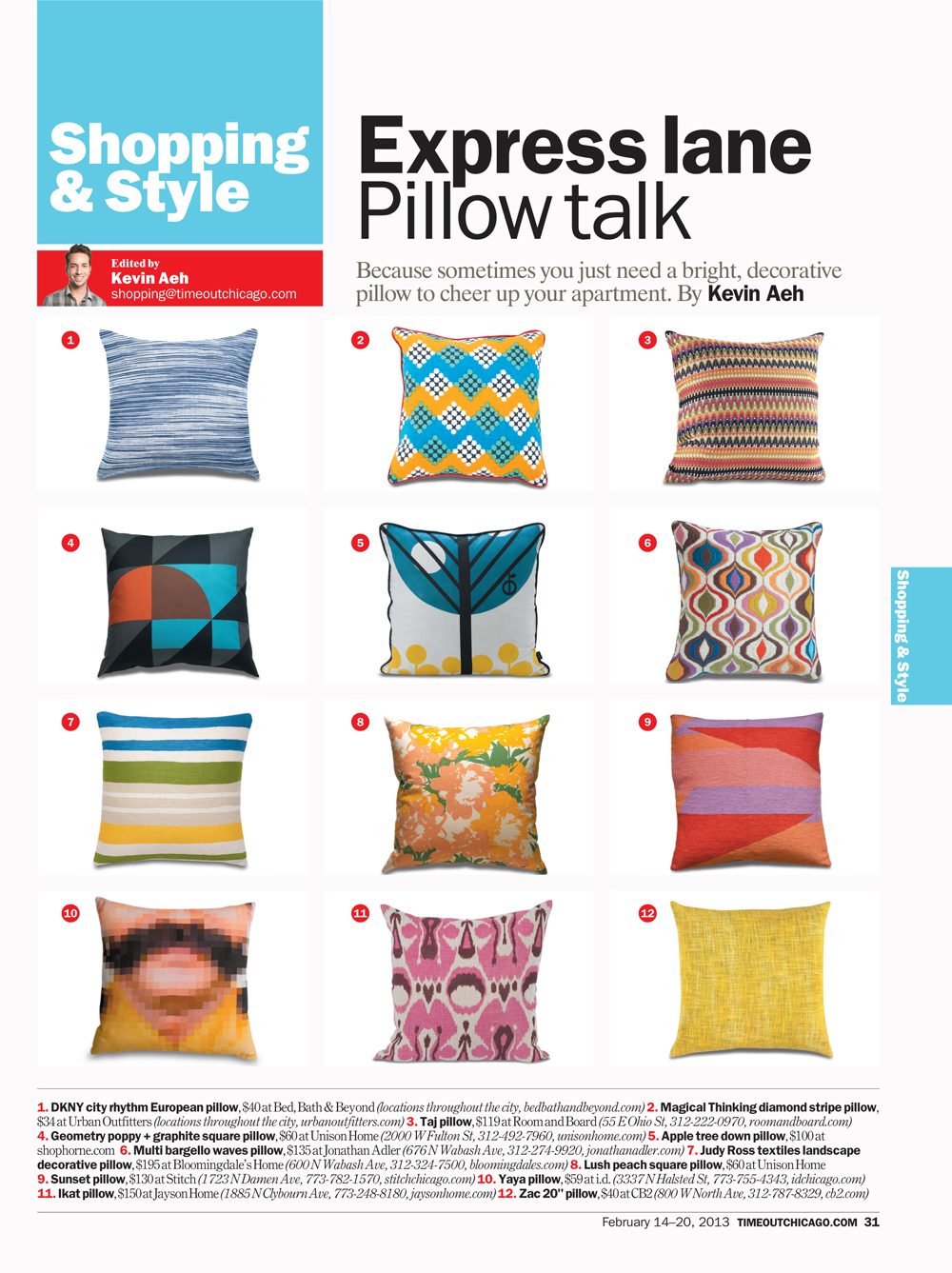 Geometry and Lush Pillows featured in TOC Feb 2013