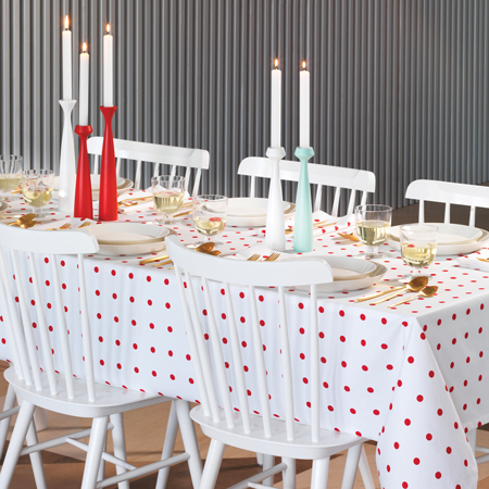 Dots Red Tablecloth