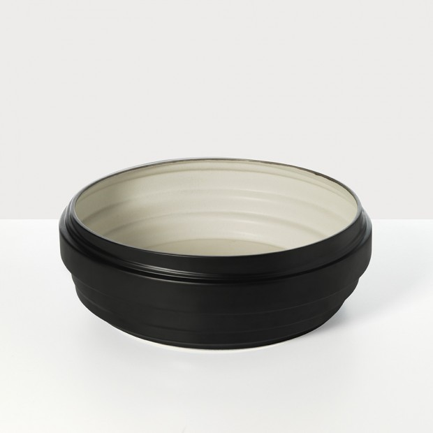 Strata Black Centerpiece Bowl