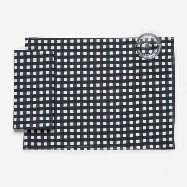 Graphite Gingham Placemat