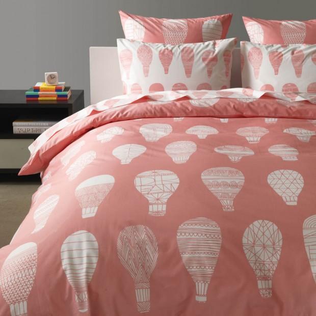 Pink Bedding - Float Pink Hot Air Balloon Duvet, Sheets, Pillows