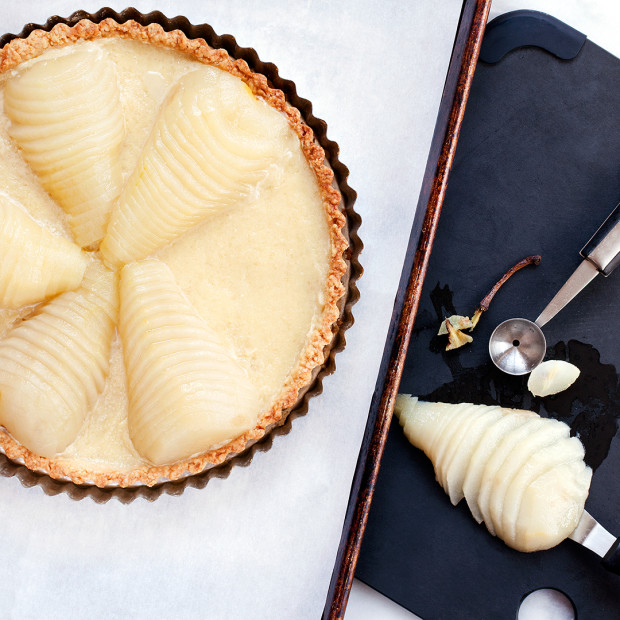 Almond Pear Tart Prep